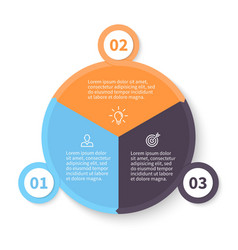 Circular infographics with number options vector image