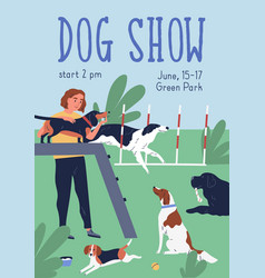 Conformation or breed show colorful poster vector