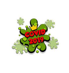 Coronavirus bacteria comic text cartoon speech vector