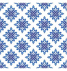 damask pattern seamless vector image