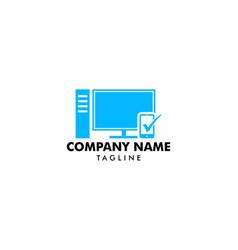 desktop logo template design vector image