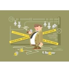 Detective character man vector