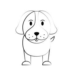 dog cartoon icon image vector image