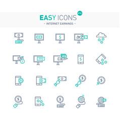Easy icons 41e internet earnings vector