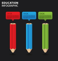 Education info graphic vector