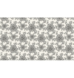 Elegant black flower pattern on light background vector