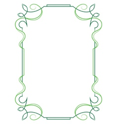 Elegant vertical frame on a white background vector image