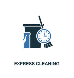 express cleaning icon creative two colors design vector image