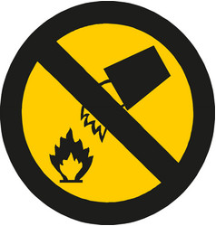 fire warning sign flammable inflammable vector image