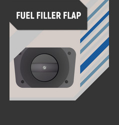 Fuel filler flap vector
