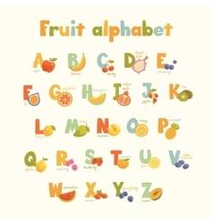 Full cute alphabet for kids in bright vector