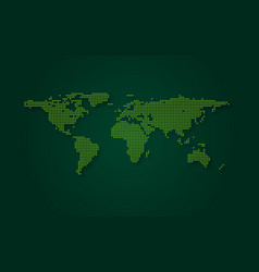 Futuristic green world map abstract technology vector