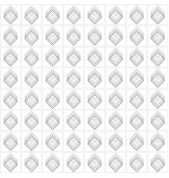 gray multiple diamond shape emblem set pattern vector image