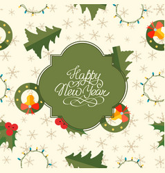 greeting christmas seamless pattern vector image