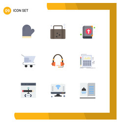 Group 9 modern flat colors set for support vector