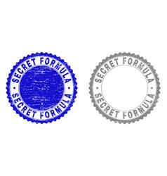 Grunge secret formula scratched stamp seals vector
