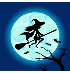 Halloween of mysterious night sky vector