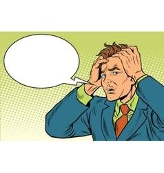 Headaches men severe pain vector