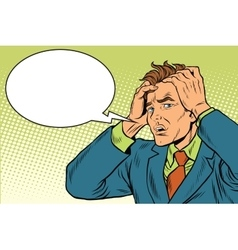 Headaches men severe pain vector image
