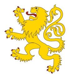 Heraldic lion 24 vector image