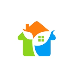 house ecology environment logo vector image