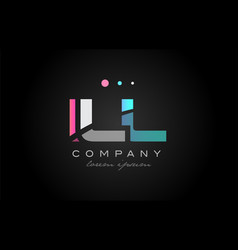 ill i l l three letter logo icon design vector image