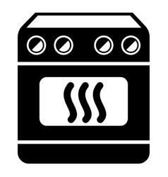 Induction stove icon simple style vector