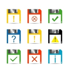 Information Set of icons vector
