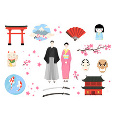 Japan icon japanese people vector