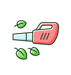 Leaf blower rgb color icon vector