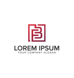 letter fb square logo design concept template vector image