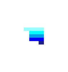 letter l negative space logo designs inspiration vector image