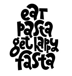 lettering phrase vector image