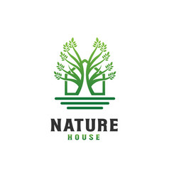 Nature house logo design template - good to use vector