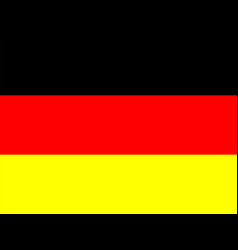 Official national flag of germany vector