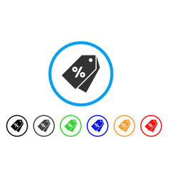 Percent discount tags rounded icon vector