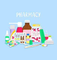 pile drugs vector image