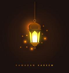 ramadan kareem concept banner with islamic vector image