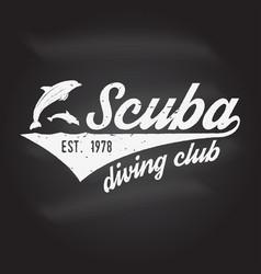 Scuba diving club vector