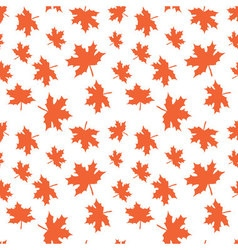 Seamless pattern with autumn leaves Reaping autumn vector image