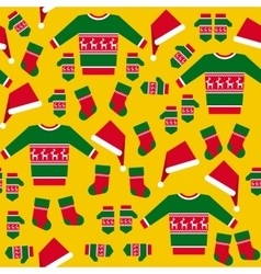 Seamless Pattern with Christmas Clothes vector