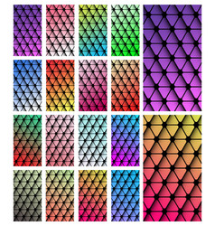 Set of geometric wallpaper for smartphone screen vector