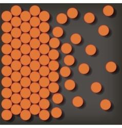 Set of Orange Pills vector