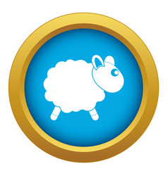 Sheep icon blue isolated vector