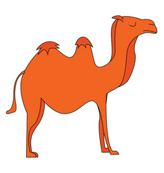 Silhouette of a camel or color vector