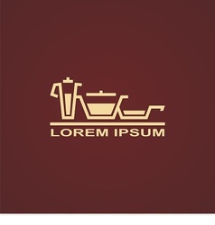 Simple icon of kitchen equipment vector image