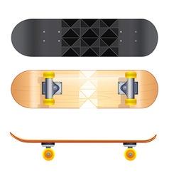 Skateboard templates vector image