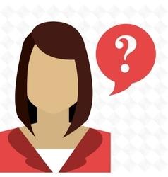 Smartphone woman question vector