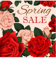spring sale advertising poster vector image