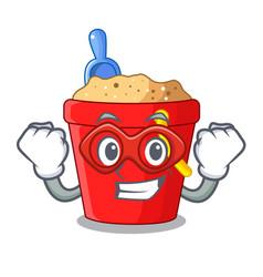 super hero beach bucket shape the fun character vector image